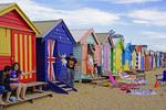 Brighton Beach huts, Melbourne, Victoria, Australia.