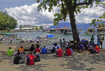 Alotau waterfront on Milne Bay, Papua New Guinea.