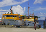 Fishing trawlers in port of Honiara, Guadalcanal, Solomon Islands.