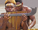 Musicians in Honiara, Guadalcanal, Solomon Islands.