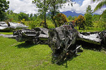 Wreckage of WWII fighter planes in outdoor Vilu War Museum, Gudalcanal, Solomon Islands.