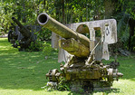 Artillery from WWII in outdoor Vilu War Museum, Guadalcanal, Solomon Islands.