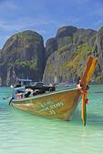 Thai long-tail boat at Ton Sai Bay of Phi Phi Don island, Thailand.