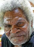 Elderly Melanesian man in Port Vila, Vanuatu.
