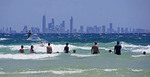 Skyline of Surfer's Paradise from Coolangatta Beach, Queensland, Australia.