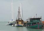 Boats at Bangrak Pier, Koh Samui, Thailand.