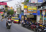 Chaweng Beach Road, main street of Koh Samui, Thailand.