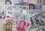 International currencies.