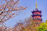 Jiming Pagoda in springtime in Nanjing.