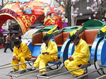 Rickshaw drivers waiting for customers in Confucius Temple area of Nanjing.