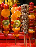 Candied fruit in Nanjing food stall.