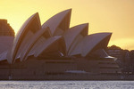Sydney Opera House at sunset.