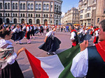 Italian dancers at the 41st annual Europeade Festival in Riga.