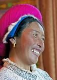 Tibetan woman near Shangri-la in Yunnan province.