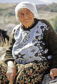 Elderly woman in Cappadocia