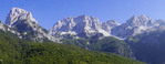 Dinaric Alps viewed from Valbona Valley in Albania.