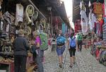 Bazaar in Kruja, Albania.