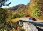 Blue Ridge Parkway in autumn in North Carolina.