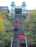 Duquesne Incline is an inclined railroad on Mount Washington in Pittsburgh operating since 1877.