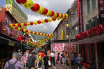 Singapore Chinatown decorated for Spring Festival/Chinese New Year.