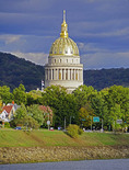 West Virginia State Capitol building in Charleston designed by architect Cass Gilbert.