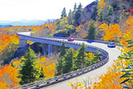 Blue Ridge Parkway's Linn Cove Viaduct --Watercolor photo art painting