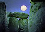 Moon at Stonehenge --Photo art Painting