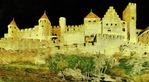 Carcassone, France, castle.  --Photo art painting
