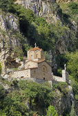 Holy Trinity 14th century Orthodox Church overlooking Berat, Albania.