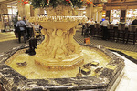 Ducks in lobby fountain of the Peabody Hotel in Memphis.