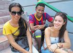 Racially diverse Cuban youth in Santiago de Cuba.