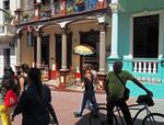 Santiago de Cuba pedestrian street.