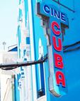 Cine Cuba sign in Santaigo de Cuba.
