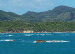 Shoals are navigational hazard at port of Amber Cove, Puerto Plata, Domincan Republic.