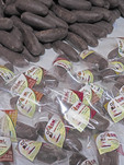 Rolls of chocolate produced by Women's Chocolate Cooperative, Chocal,  at Puerto Plata, Dominican Republic.
