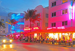 South Beach Art Deco District's Ocean Drive in Miami Beach.