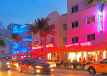 South Beach Art Deco District in Miami.