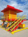 South Miami Beach lifeguard station.