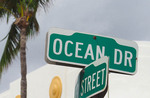 South Miami Beach street sign for Ocean Drive.