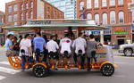 Nashville party bike in downtown entertainment district.