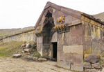 Selim Caravanserai in Lesser Caucasus Mountains of Armenia lodged 14th century Silk Road merchants.