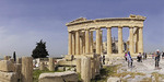 Panoramic of Parthenon on the Acropolis In Athens.