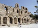 Odeon of Herodes Atticus below Acropolis in Athens.