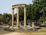 Columns of The Philippeion at Olympia.