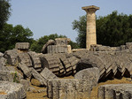 Ruins of the Temple of Zeus at Olympia.