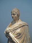 Statue of upper half of Faustina the Elder, wife of Antoninus Pius, in the Olympia Museum.