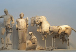 Sculture from Temple of Zeus at Olympia Museum.