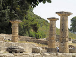Ruins of Temple of Hera at Olympia, Greece.