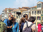 Double selfie on Rialto Bridge with Grand Canal.
