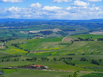 Landscape in early spring of Tuscany near Montalcino.